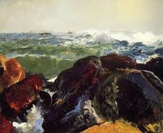 George Wesley Bellows [American Ashcan School Painter, 1882-1925] - The Big Dory, 1913, oil on panel, New Britain Museum of American Art