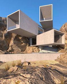 Minimalist Architecture, Organic Architecture, Contemporary Architecture, Architecture Design, Futuristic Home, Futuristic Architecture, Futuristic Design, Architecture Model Making, Amazing Architecture