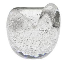 "TIMO SARPANEVA - Glass sculpture ""Hiiden Helmi"" (Devil's Pearl) designed in 1951 for Iittala, in production 1951-1960, Finland. [h. 14 cm] Glass Design, Design Art, Pearl Design, New Pins, Devil, Scandinavian, Glass Art, Helmet, Auction"