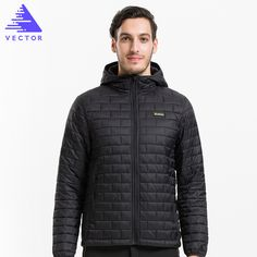 VECTOR Ultralight Mens Down Cotton Jackets Warm Autumn & Winter Overcoats Windproof Waterproof Camping Hiking Jacket 60029