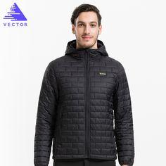 VECTOR Ultraligero Mens Chaquetas de Algodón Warm Autumn & Winter Abrigos Prueba de Viento Impermeable Camping Senderismo 60029