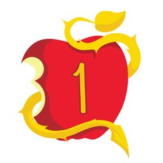 Descendants Apple Numbers, 0 though 9 by BilliHughes on Etsy