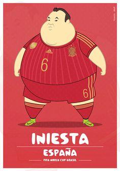 parodias futbolistas gordos iniesta Parodias de futbolistas gordos por Fulvio Obregon de Colombia