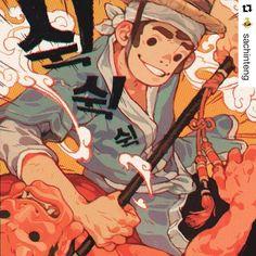 #wooolikes @sachinteng  I got to do a Penguin Classics cover for Hong Gil Dong by Minsoo Kang the Korean Robin Hood. Thanks to AD Matt Varga! #penguinclassics #honggildong #illustration #sachinteng #illustrationartists #colour #comic #wooomic