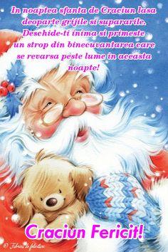 In noaptea sfântă de Crăciun lasă deoparte grijile și supărările. Deschide-ți inima și primește un strop din binecuvântarea care se revarsă peste lume în această noapte! Christmas Angels, Christmas Tree, Public Holidays, To Infinity And Beyond, Merry Xmas, My Images, Disney Characters, Fictional Characters, Teddy Bear