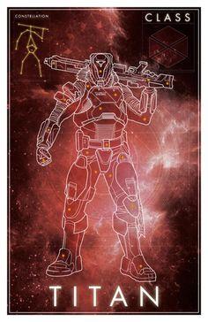 Destiny Constellation Titan Poster - David Bennett