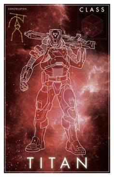 Destiny Constellation Titan Poster - David Bennett
