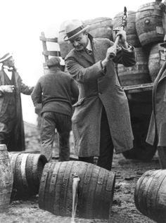 Prohibition agents destroying perfectly good booze will make you cry