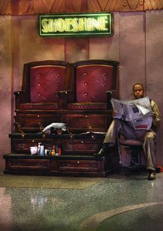 Shoes - Lees Shoe Shine Stand Photograph