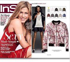 Instyle magazine, February 2015- featuring LUBLU Kira Plastinina peony bomber jacket from the 2015 Cruise Collection.