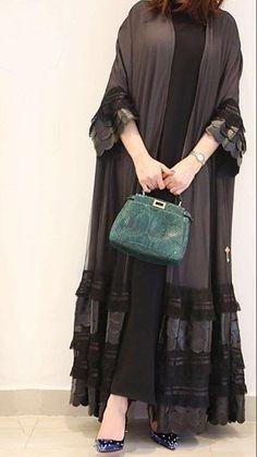 Elegant Robes Women Long Sleeve Maxi Dress Muslim Lace Applique Cute Al-jilbib Spring Autumn Abaya in 2020 Dubai Fashion, Abaya Fashion, Estilo Abaya, Abaya Mode, Hijab Style Dress, Abaya Style, Iranian Women Fashion, Fashion Women, Fashion Trends