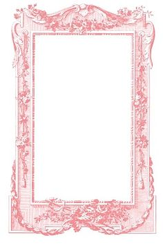 Free printable pink vintage scroll frame.  DIY crafting printables for scrapbooking, collages, mixed media art, photos, picture backgrounds, gift tags, labels & blogs.  Graphics Fairy <3