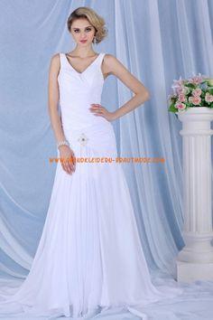 A-linie Schlichte Brautkleider aus Chiffon