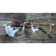 Nerd Brille filigran rund Glasses Klarglas Hornbrille treber retro 10E61 Gold