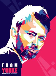 Thom Yorke wpap by difrats #art #vector #tracing #thomyorke #radiohead #wpap #popart