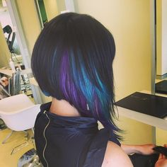 Extreme concave with turquoise & sugarplum purple peekaboo panels using…