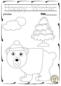 """Help your child develop their pre-writing and fine motor skills with «Winter Trace and Color Pages"""" This .pdf file includes 25 Winter themed Tracing and Coloring Worksheets. This is a perfect activity for your young artists. Preschool Printables, Kindergarten Worksheets, Worksheets For Kids, Coloring Worksheets, Simple Car Drawing, Daycare Crafts, Pre Writing, Color Activities, School Lessons"""