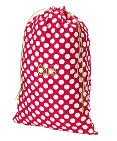 Love this Polka Dot Christmas Personalized Santa Sack by Aggie Gray on #zulily! #zulilyfinds