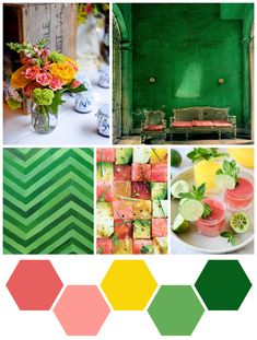 color me : emerald + melon