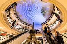 Das Schloss shopping centre has received an AV upgrade, with the world's largest projection ceiling immersing shoppers in the heart of Berlin Projection Mapping, Shopping Center, In The Heart, Worlds Largest, Berlin, Fair Grounds, Europe, Centre, Travel