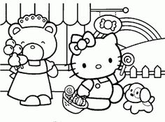 They Love Hello Kitty Coloring Pages As These Allow Them To Spend Some Quality Time With Their Favorite Cute Bobcat While Playing Colors And S