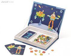 Duża magnetyczna książka Janod - Roboty