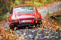 Porsche 911 #porsche~oh the reds of fall!