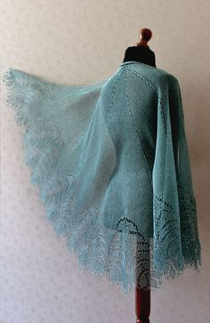 Handknitted lace linen shawl  made to order in by KnittyStories