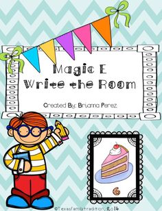 Magic E Write The Room Magic E Writing E Cards