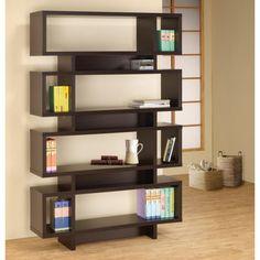 Coaster Bookcases Contemporary Cappuccino Finish Open Bookcase - Coaster Fine Furniture