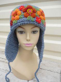 Купить или заказать шапка ушанка. ручная вышивка в интернет-магазине на Ярмарке Мастеров. ручная работа. ручная вышивка.