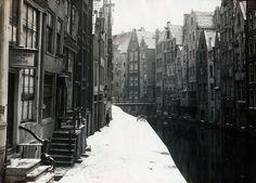 Winter in Amsterdam, 1917.