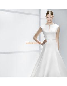 Schlichte A-linie ärmellose Brautkleider aus Satin - Jesús Peiró