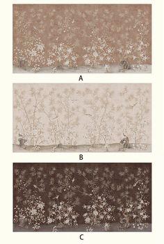Oriental Garden cineserie Wallpaper Claborate-stile pittura