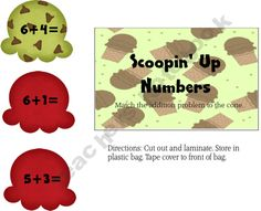 Scoopin up Numbers product from Teaching-is-Colorful on TeachersNotebook.com