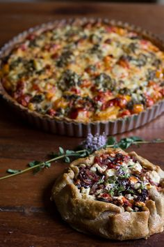 The Tomato Tart Off! Round One Maggy's Goat Cheese Tart vs. Sabrina's Mediterranean Galette