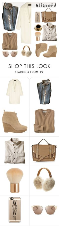 """Brrrrr! Winter Blizzard"" by helenevlacho ❤ liked on Polyvore featuring Donna Karan, MICHAEL Michael Kors, Woolrich, Topshop, H&M, UGG Australia, Casetify, Christian Dior, contestentry and blizzard"
