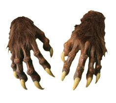 Werewolf Hands - Werewolf Hands The Ultimate Accessory For Your Werewolf Costume Perfect fitting gloves that will complete any werewolf or monster costume.  sc 1 st  Pinterest & Gloves 155348: Vintage 1960 70 New Unopened Rubber Frankenstein ...