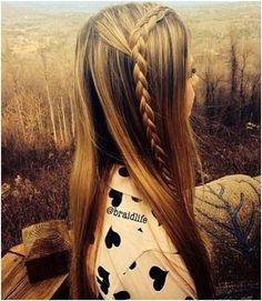 Sleek Long Straight Hairstyle With Braid