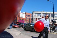RedBall Project, Chicago, Artist: Kurt Perschke #redballproject