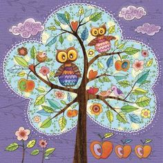 owls in a tree by Mila Marquis