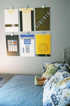 idéias de decoração Star Wars para quartos