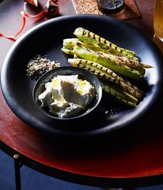 Fast barbecue recipes: Grilled baby corn with spiced salt and whipped feta :: Gourmet Traveller