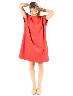 Jesse Kamm Mini Sack Dress