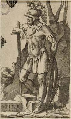 """Julius Bonasoni, """"Jupiter"""" (with his signs Pisces and Sagittarius), century"""