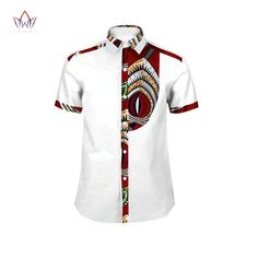 Mens Shirt 2017 New African Men Clothing Short Sleeve Dashiki for Men Slim Fit Brand Clothing African Print Shirts African Shirts For Men, African Dresses Men, African Tops, African Wear Styles For Men, African Style, African Fashion Designers, African Men Fashion, Mens Fashion, Africa Fashion