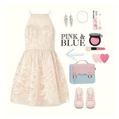 """Pink&Blue "" by apostsasha on Polyvore featuring мода, Lipsy, Carolee, adidas, La Cartella, LAQA & Co., Bobbi Brown Cosmetics, Belk Silverworks, Sephora Collection и Pink"