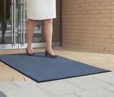 Apache Mills Outdoor Loop Mat 2' Wide 3' Long by Apache Mills. $17.95. 2'x3' mat is perfect outside building entrances. Rugged fortified vinylcoated nylon loops remove dirt and keep moisture beneath the mat surface before either can be tracked inside. Tough PVC coated nylon with PVC vinyl backing. Holds up under demanding weather conditions. To clean, just hose it off 01-050-2X3