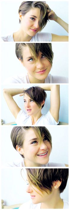Shailene Woodley  Its been about 9 months since I went from super long to the short bob. Now my hair is boob length.- I'm turning 25 in 3 weeks I think I need a fairly huge change.