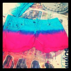 Dip dyed shorts!